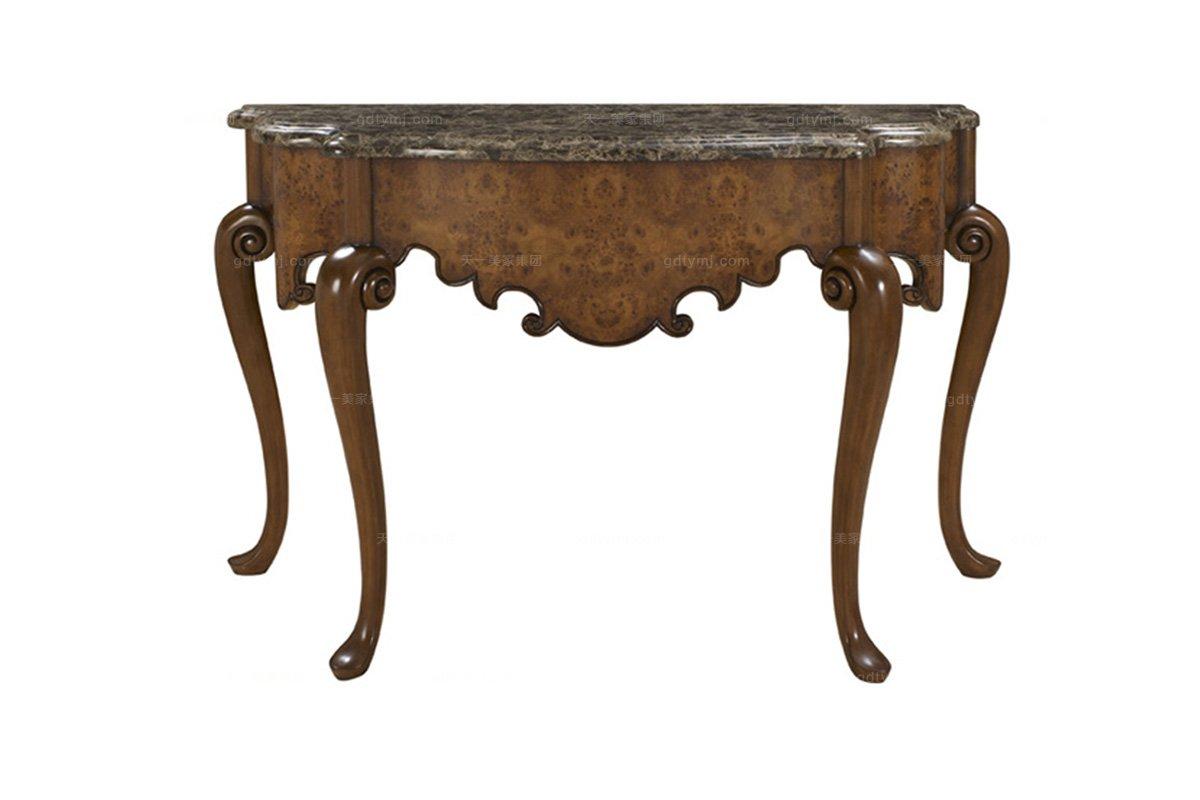 高端实木家具美式露木色玄关