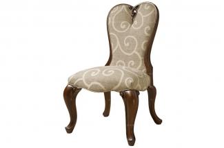 高端白金别墅家具实木美式布艺餐椅