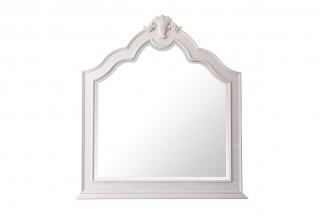 美式88bf必发娱乐实木家具白色装饰镜