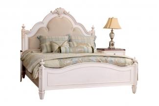 美式88bf必发娱乐花园家具实木白色双人床