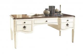 高端实木白色家具样板房白色书台