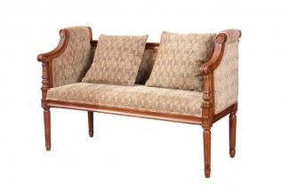 高端别墅实木万博手机网页美式二位布艺沙发