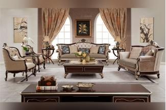 世界高端家具品牌奢华新古典布艺二位沙发
