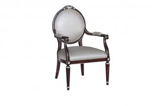 实木万博手机网页奢华新古典书椅