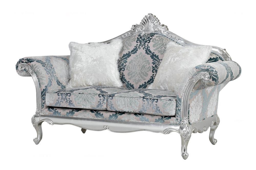高端别墅万博手机网页奢华新古典二人位沙发