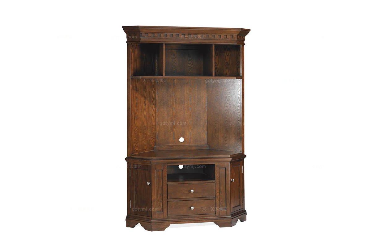 高档美式家具实木装饰柜