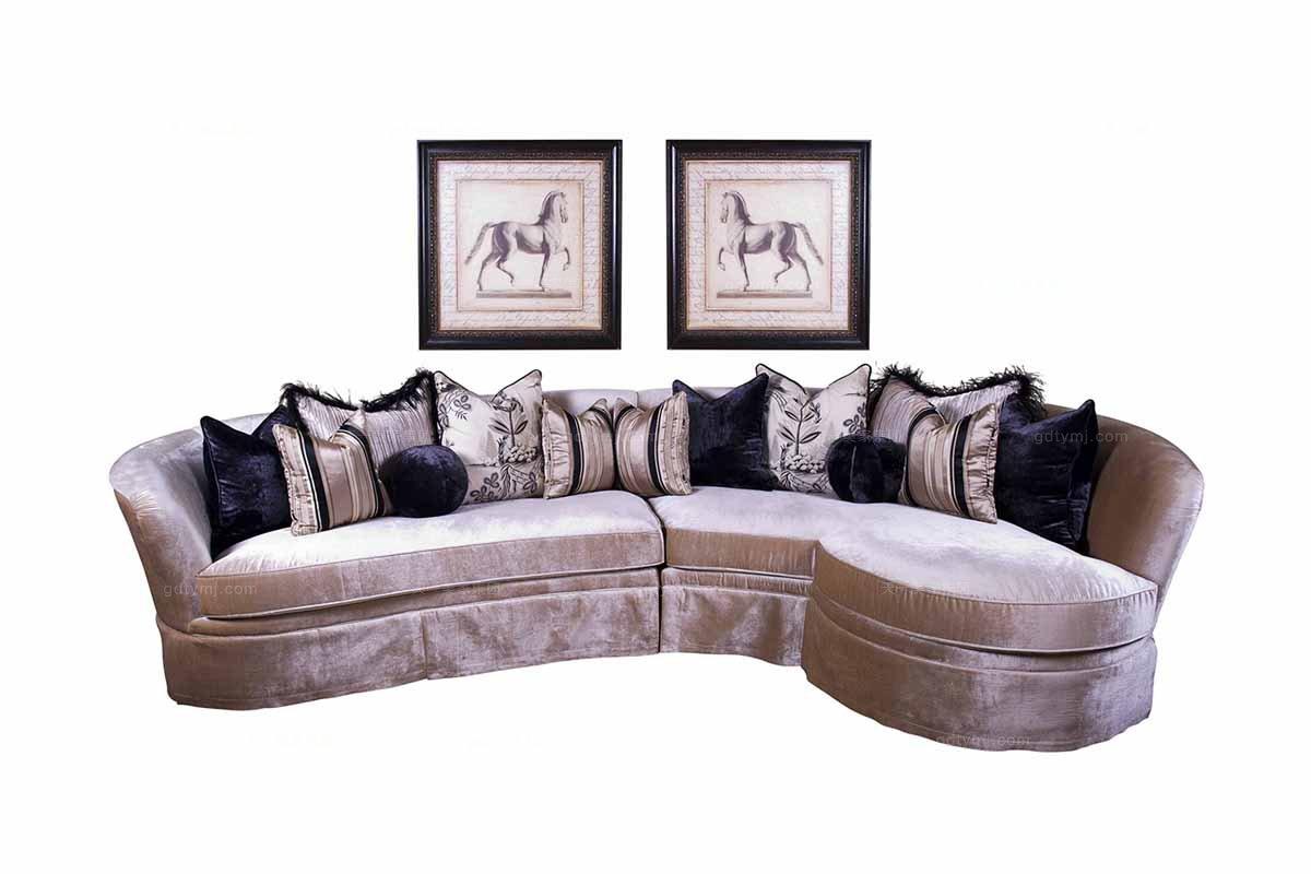 高档家具美式转角沙发
