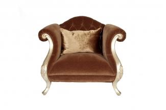 售楼处样板房万博手机网页新古典布艺单人沙发