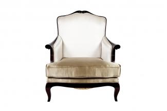 高端新古典真丝布艺单人沙发
