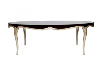高端样板房万博手机网页采购新古典实木椭圆餐桌