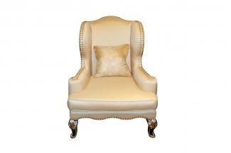 高端奢华新古典金色单人位沙发