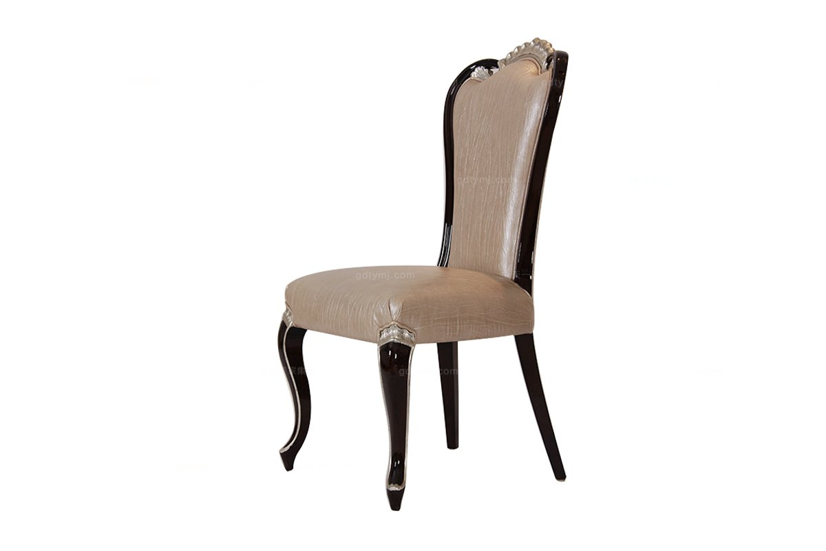 高端奢华新古典杏色 无扶手餐椅