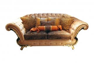 高端奢华新古典布艺二人沙发