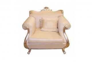 高端奢华新古典布艺单人沙发