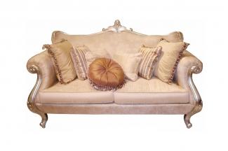 高端奢华新古典布艺双人沙发