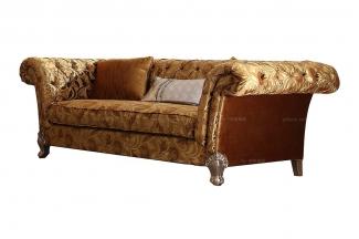高端奢华新古典花色布艺二人沙发