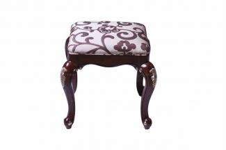 高端万博手机网页美式花型布艺妆凳