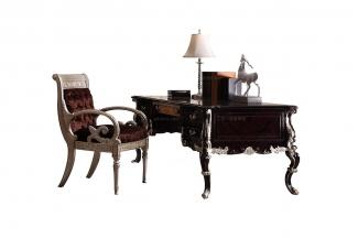 高端奢华新古典实木书桌