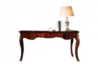 高端奢华新古典高光旧金书桌