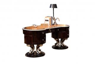 高端奢华新古典贝雕图案书椅