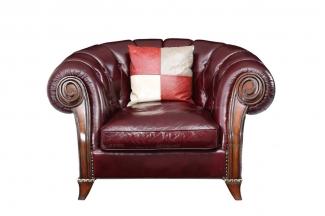 售楼处沙发高端奢华新古典樱桃色单人沙发