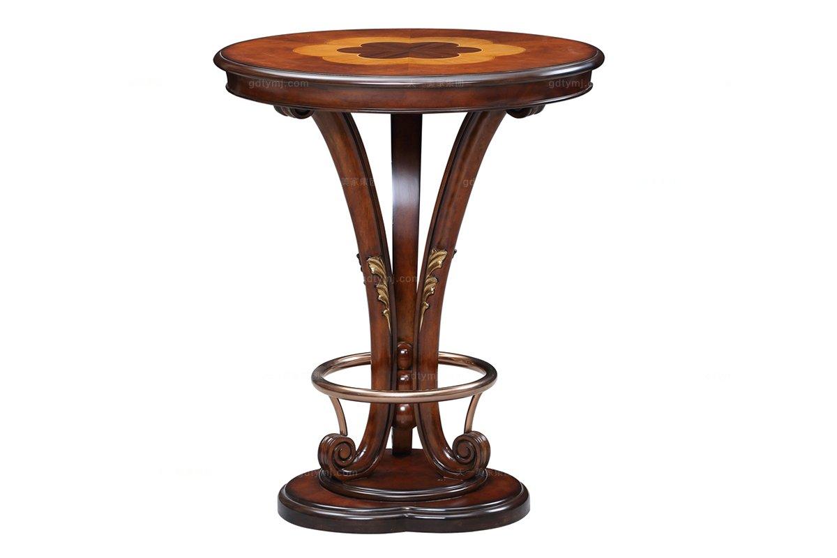 高端奢华新古典实木雕花吧台