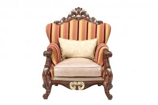高端别墅休闲家具樱桃色实木休闲椅