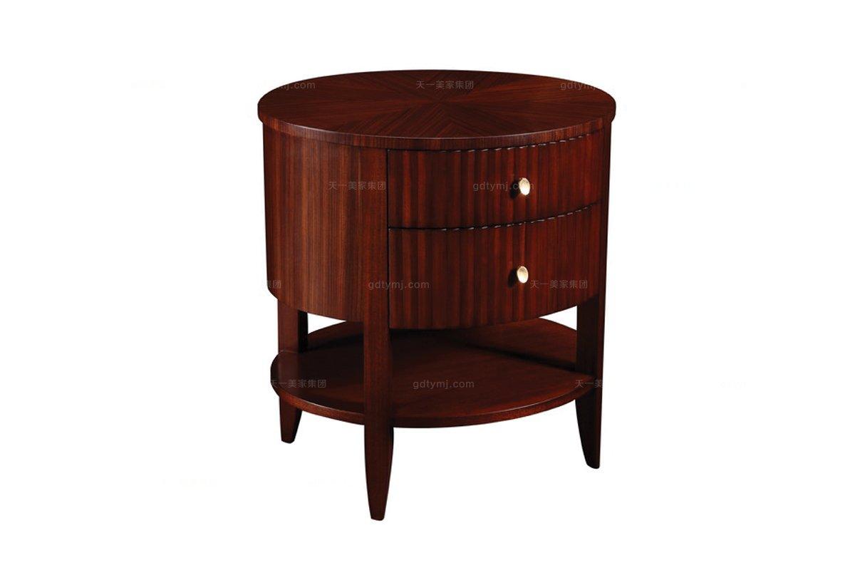 高端简约新古典实木床头柜