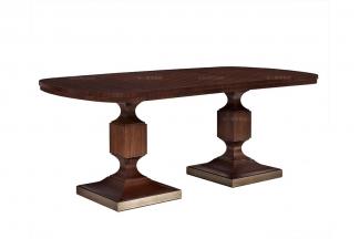 高端简约新古典桃花芯木餐桌