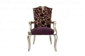 高端简约新古典实木布艺扶手椅