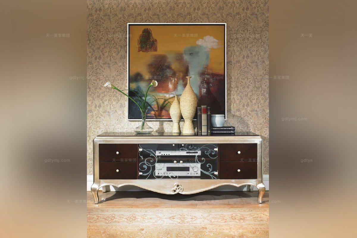 古典家具会所实木电视柜