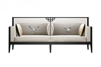 高端新中式斗拱长沙发