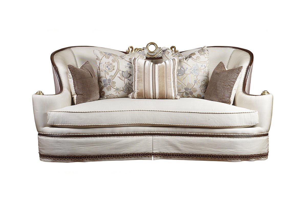 高档家具美式米色三人位沙发