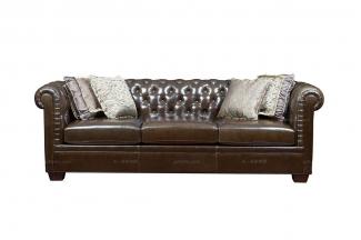 高端简约88bf必发娱乐家具美式真皮沙发