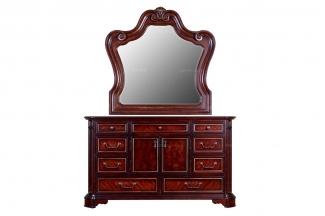 高端万博手机网页美式实木装饰柜