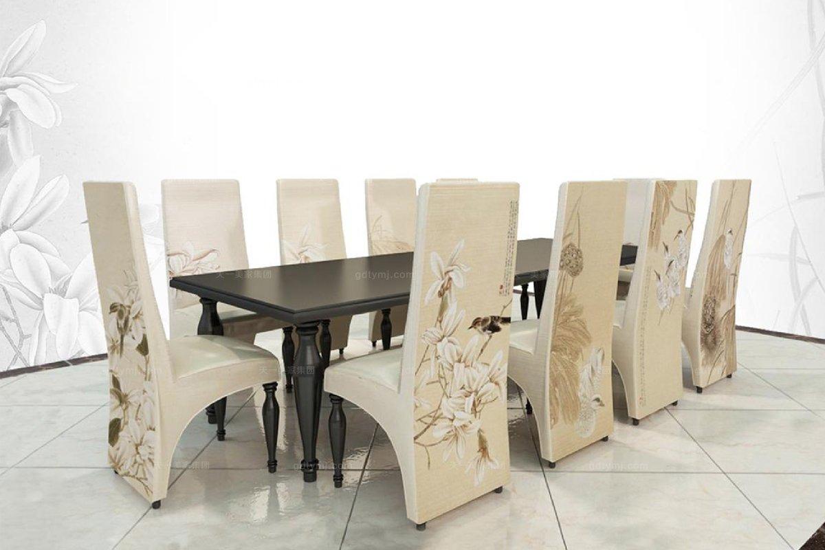 高端新中式花鸟系列餐椅