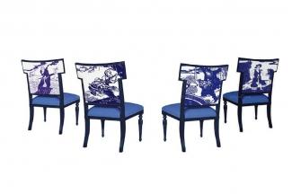 高端新中式水浒剪纸单人椅