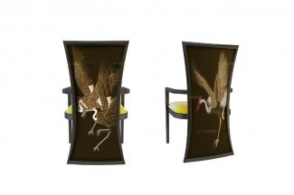 高端新中式仙鹤餐椅