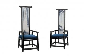 高端新中式高山流水单人椅
