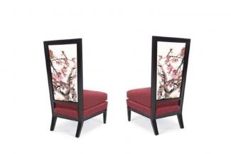 高端国产万博手机网页品牌新中式梅花沙发椅