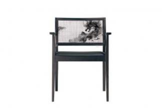高端新中式水墨龙餐椅
