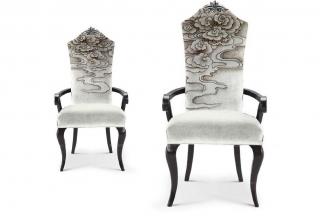 高端新中式风格家具云纹椅