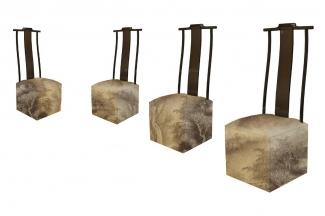 合肥民用别墅家具高端新中式布艺餐椅