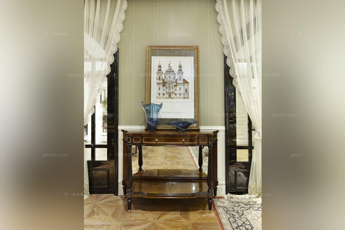 高端欧式家具实木雕花玄关桌