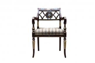 高端欧式家具扶手餐椅