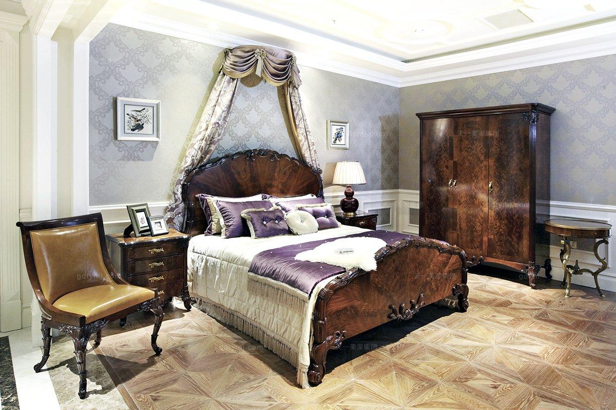 高端欧式家具三门衣柜