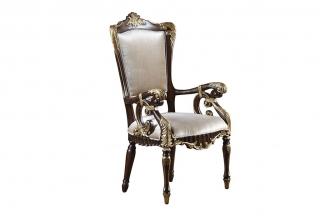 高端美式会所家具素色布艺休闲椅
