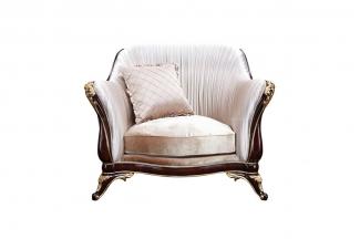高端欧式万博手机网页布艺单人位沙发