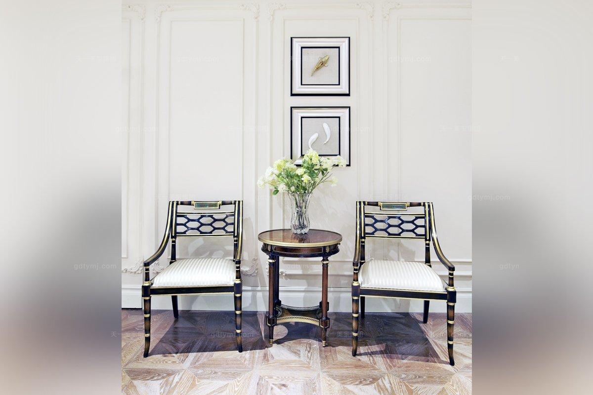 高端欧式家具雕花布艺扶手椅