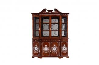 高端别墅万博手机网页欧式雕花铜饰上下座酒柜